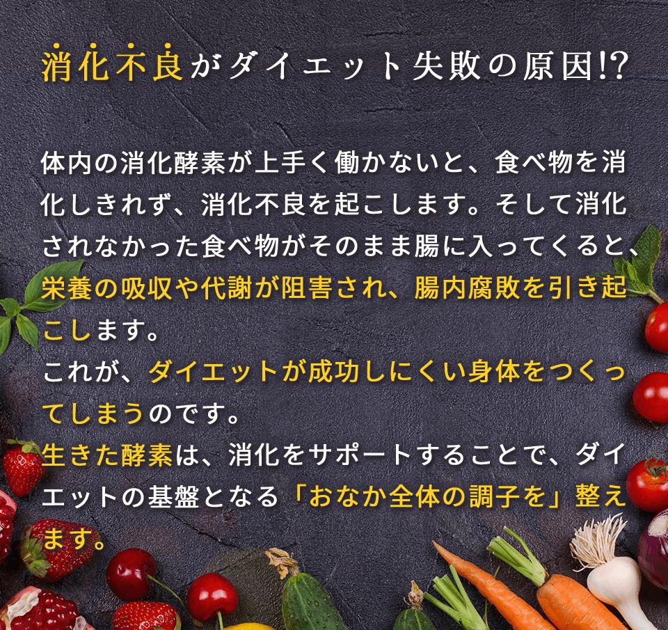 消化不良がダイエット失敗の原因?!